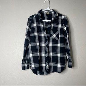 Woolrich Black & White Lightweight Flannel Shirt